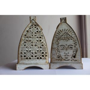 Combo Buddha n Floral Hanging Tea light